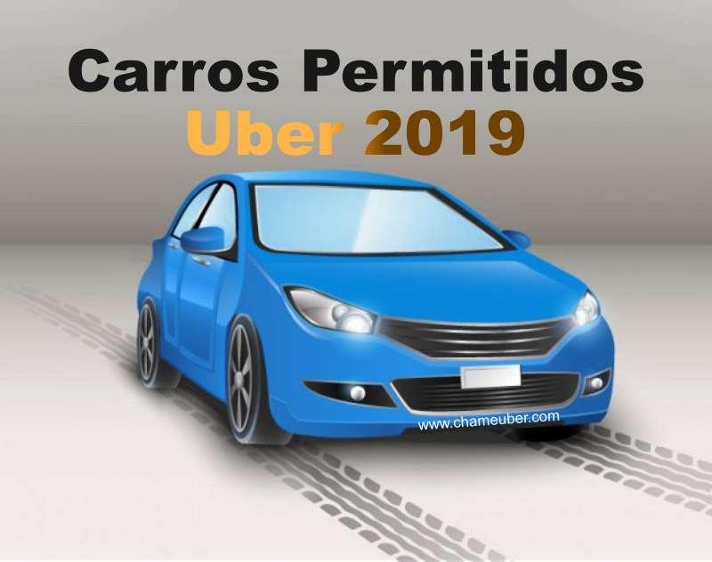 carros permitidos uber 2019